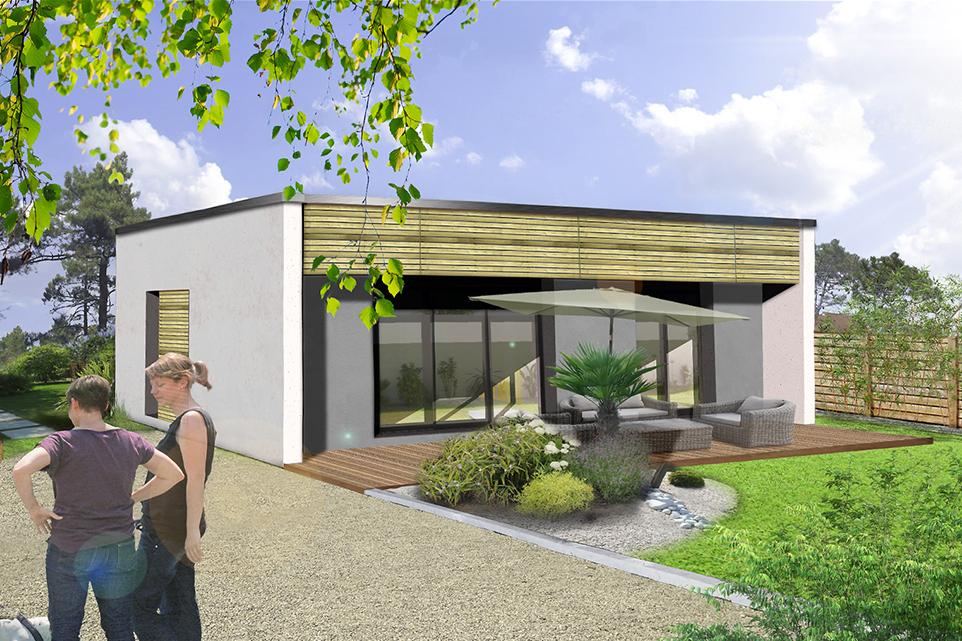 Maison T3 Primo Cube : 60,24 m² - 2 chambres - Plain-pied